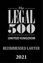 Legal 500 UK 2021 - Recommended Lawyer