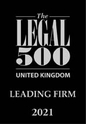 Legal 500 UK 2021 - Leading Firm