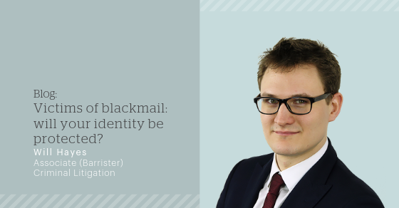 Victims of blackmail: will your identity be protected
