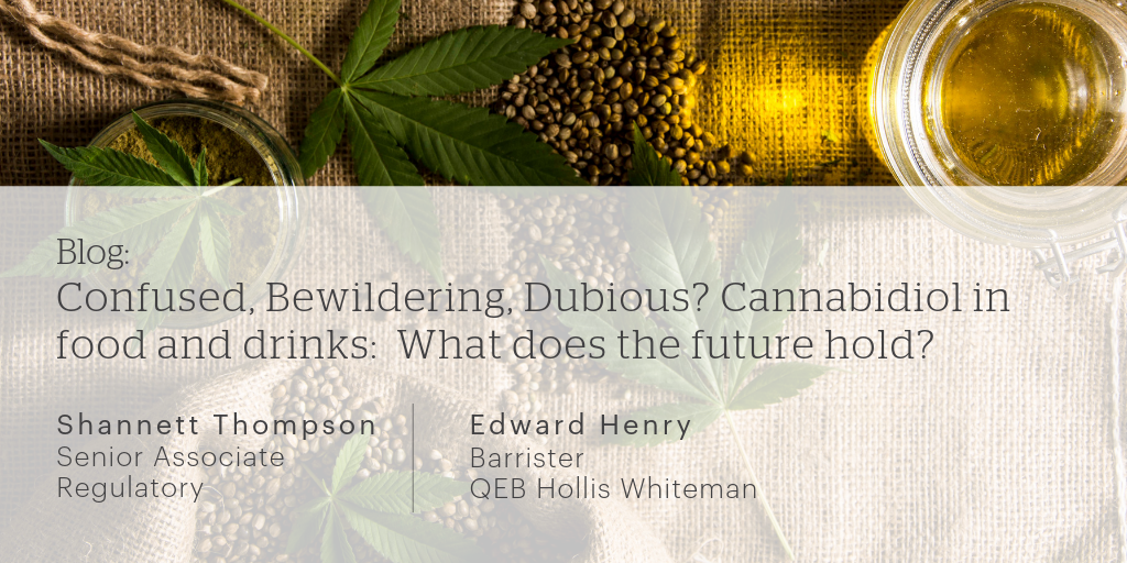 Confused, Bewildering, Dubious? Cannabidiol in food and